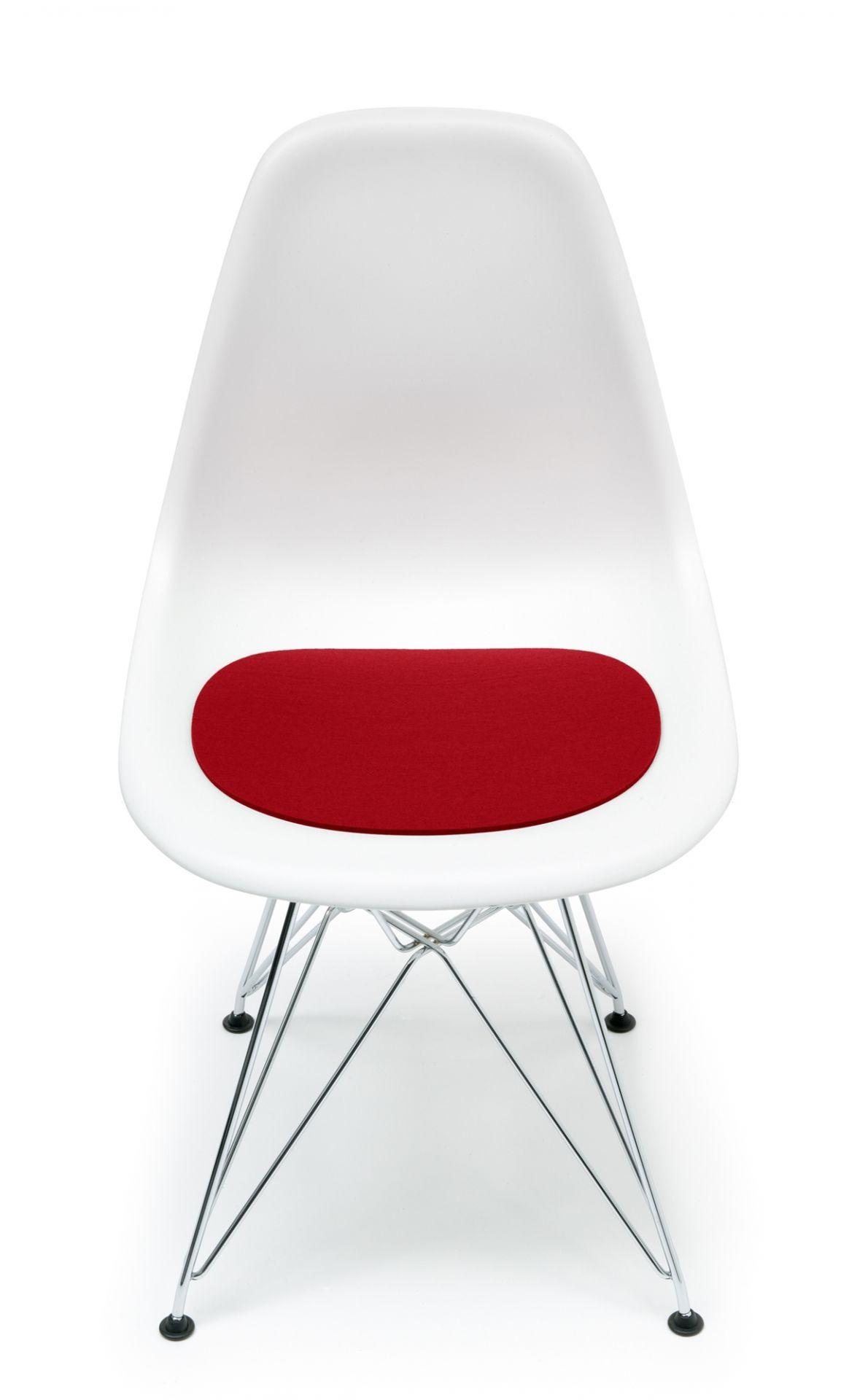 Sitzauflage-Filzauflage Eames Plastic Side Chairs DSR / DSW rot Hey Sign