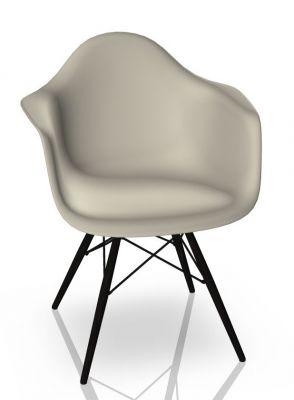 Eames Plastic Arm Chair DAW Stuhl Vitra Ahorn schwarz - Kieselstein