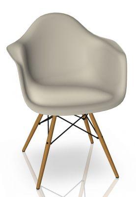 Eames Plastic Arm Chair DAW Stuhl Vitra Esche - Kieselstein