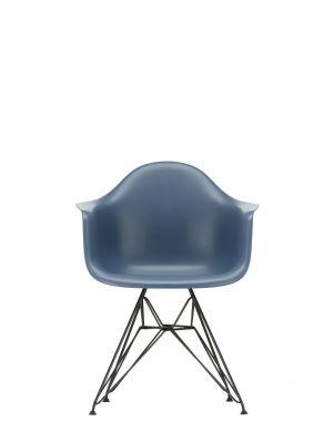 Eames Plastic Arm Chair DAR Stuhl Vitra Schwarz - Meerblau