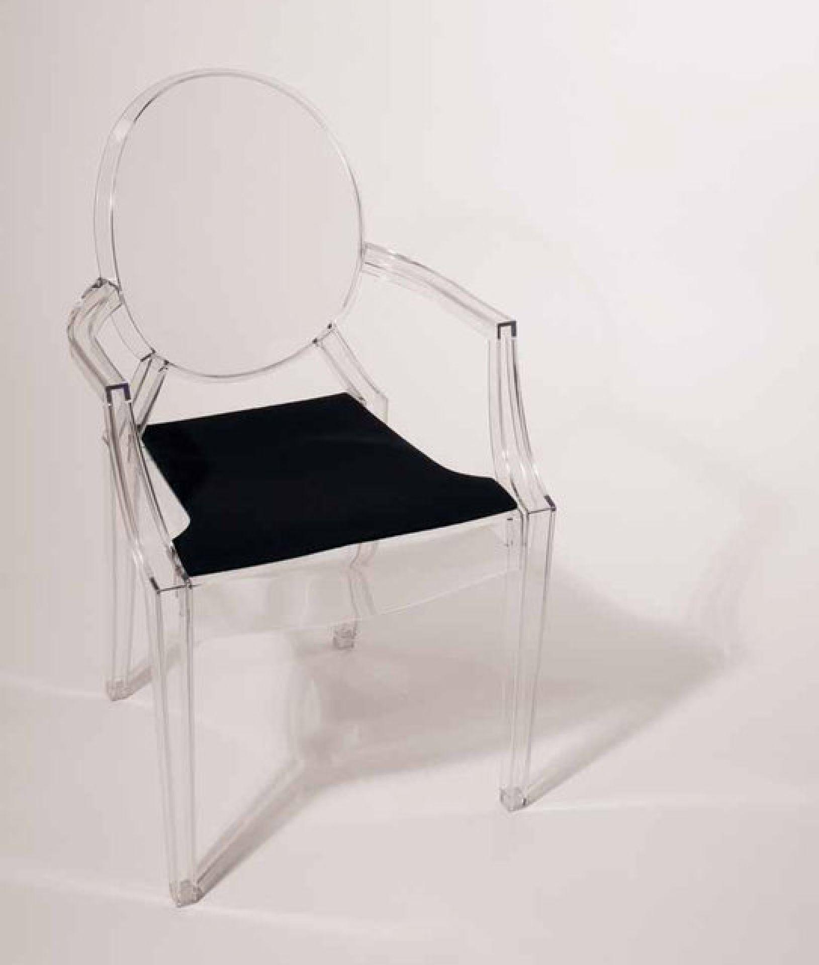 Sitzauflage - Filzauflage für Louis Ghost, Philippe Starck