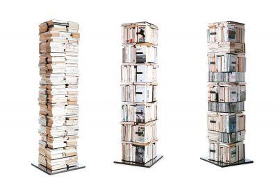 Ptolomeo drehbare Büchersäule PTX4110WW Hx110 cm Opinion Ciatti