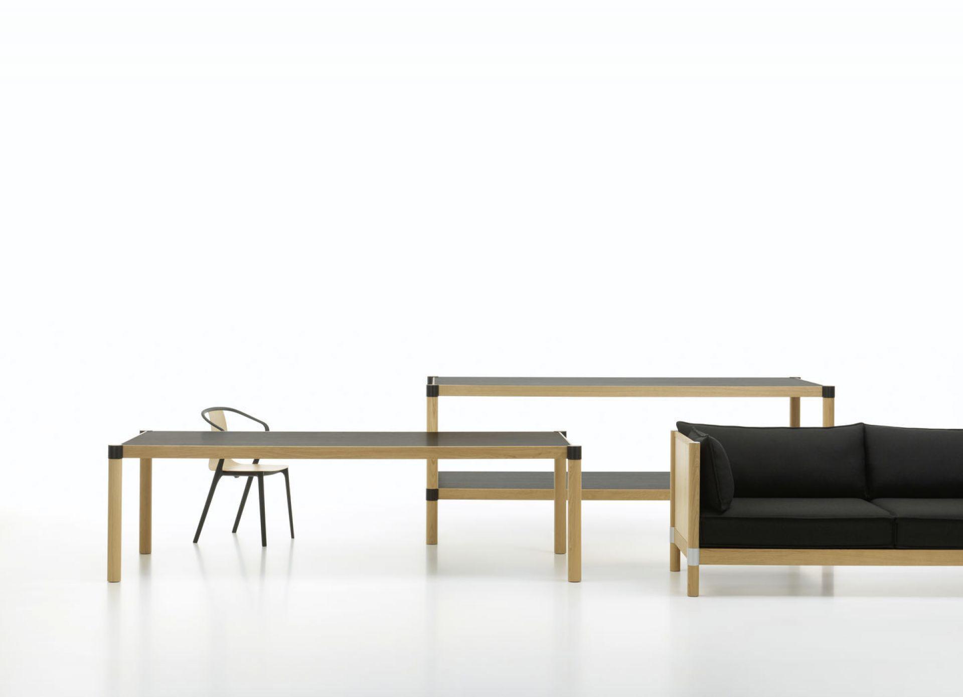 Belleville Armchair Wood Stuhl Vitra