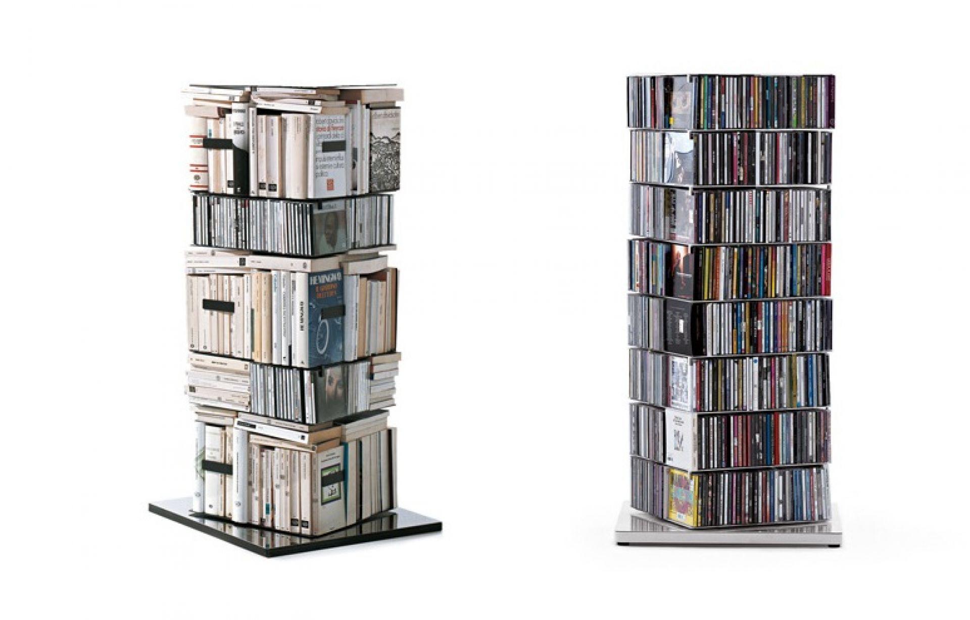 Ptolomeo drehbare Bücher / CD Säule PTX4110WW-A Hx110 cm Opinion Ciatti