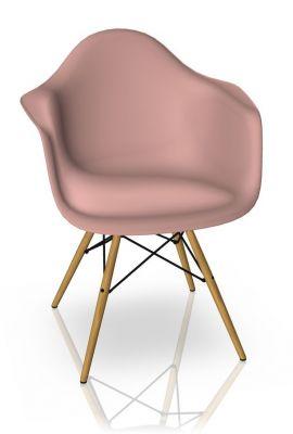 Eames Plastic Arm Chair DAW Stuhl Vitra Ahorn gelblich - Zartrosa