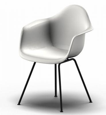 Eames Plastic Arm Chair DAX Stuhl Vitra Schwarz - Weiss
