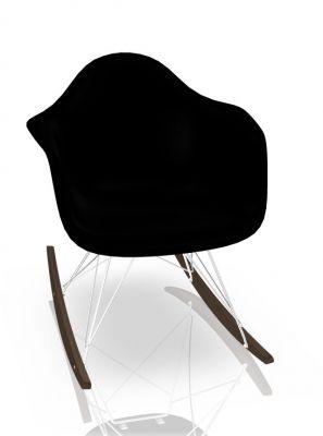 Vitra Eames Plastic Arm Rocking Chair RAR Schaukelstuhl Ahorn dunkel-Chrom-Tiefschwarz