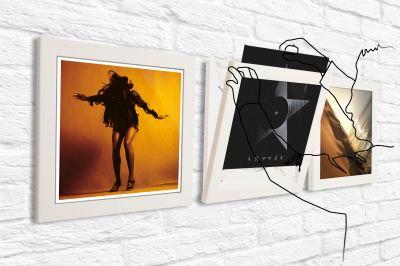 Art Vinyl Schallplattenrahmen 3er-Set weiß Klein & More