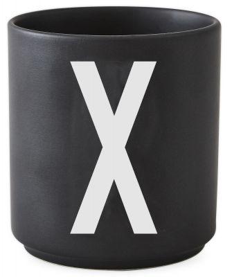 Buchstabenbecher Schwarz Design Letters-X