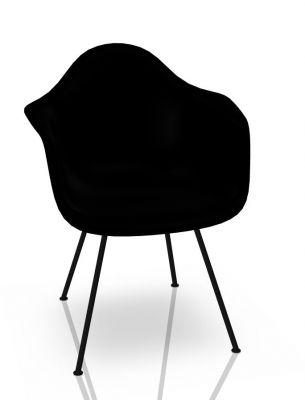 Eames Plastic Arm Chair DAX Stuhl Vitra Schwarz - Tiefschwarz