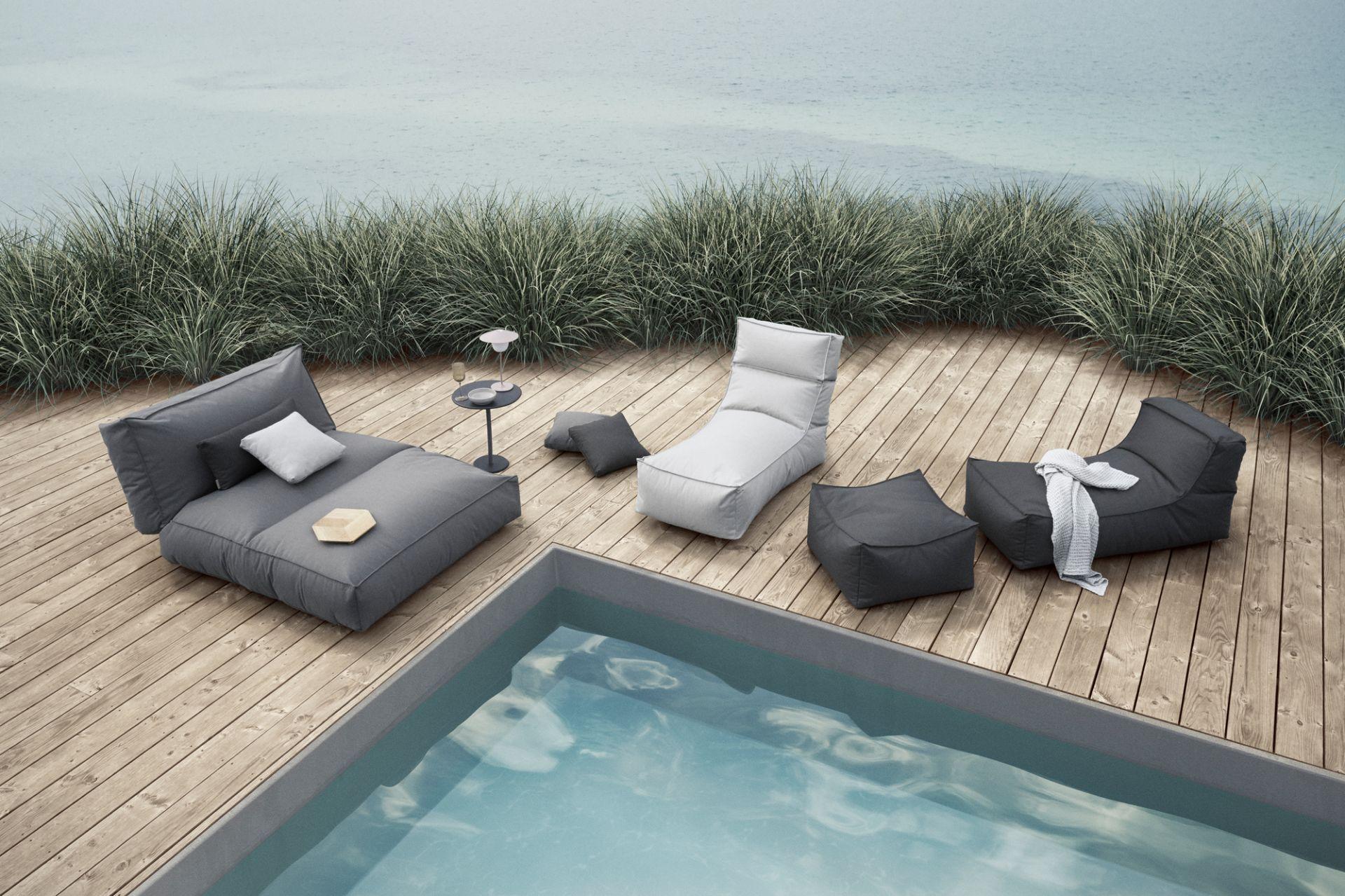 Blomus Garten Beistelltisch STAY plum kitten Gartentisch Tisch Aluminium matt
