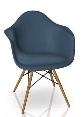 Vitra Eames Plastic Arm Chair DAW Stuhl Vitra Esche - Meerblau