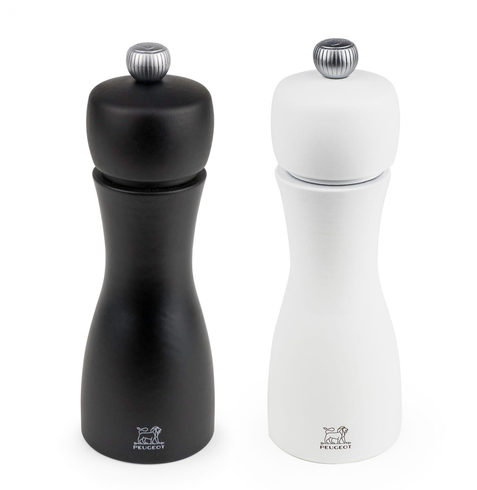 Duo Tahiti schwarz und weiß Duo Salz- und Pfeffermühle Peugeot