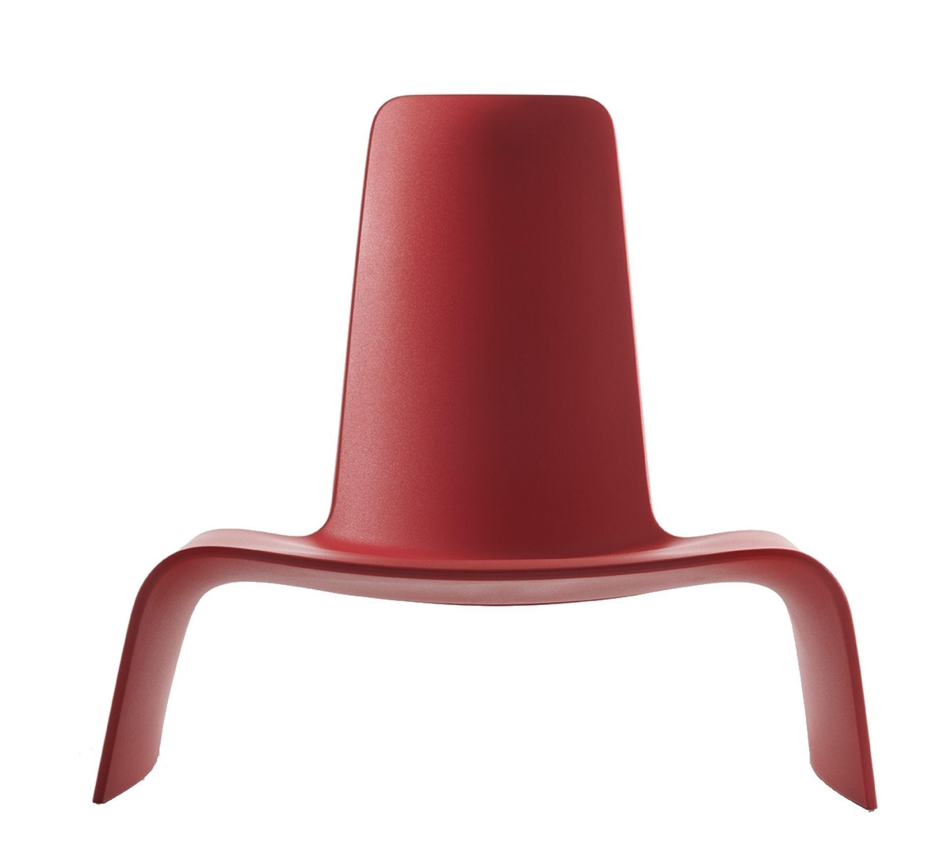 Land Lounge Chair Sessel Verkehrsrot Plank