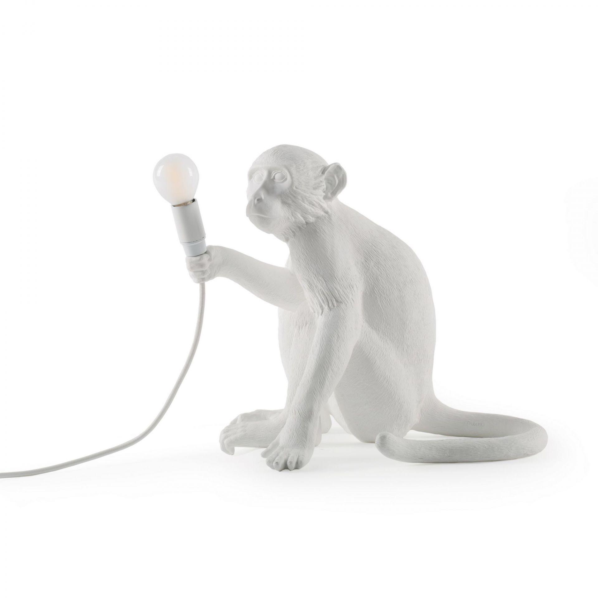 Monkey Sitting Lamp Stehleuchte / Tischleuchte Indoor mit Schalter Seletti