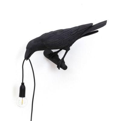 Bird Lamp Looking Left Wandleuchte schwarz Seletti