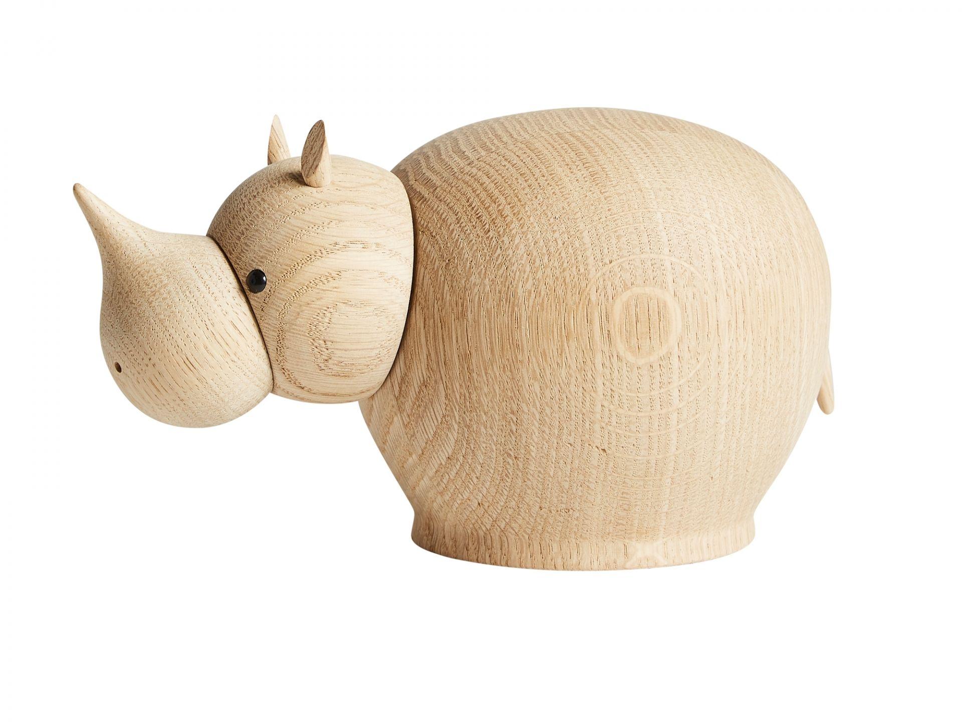Rina Rhinoceros Nashorn Holzfigur medium Woud