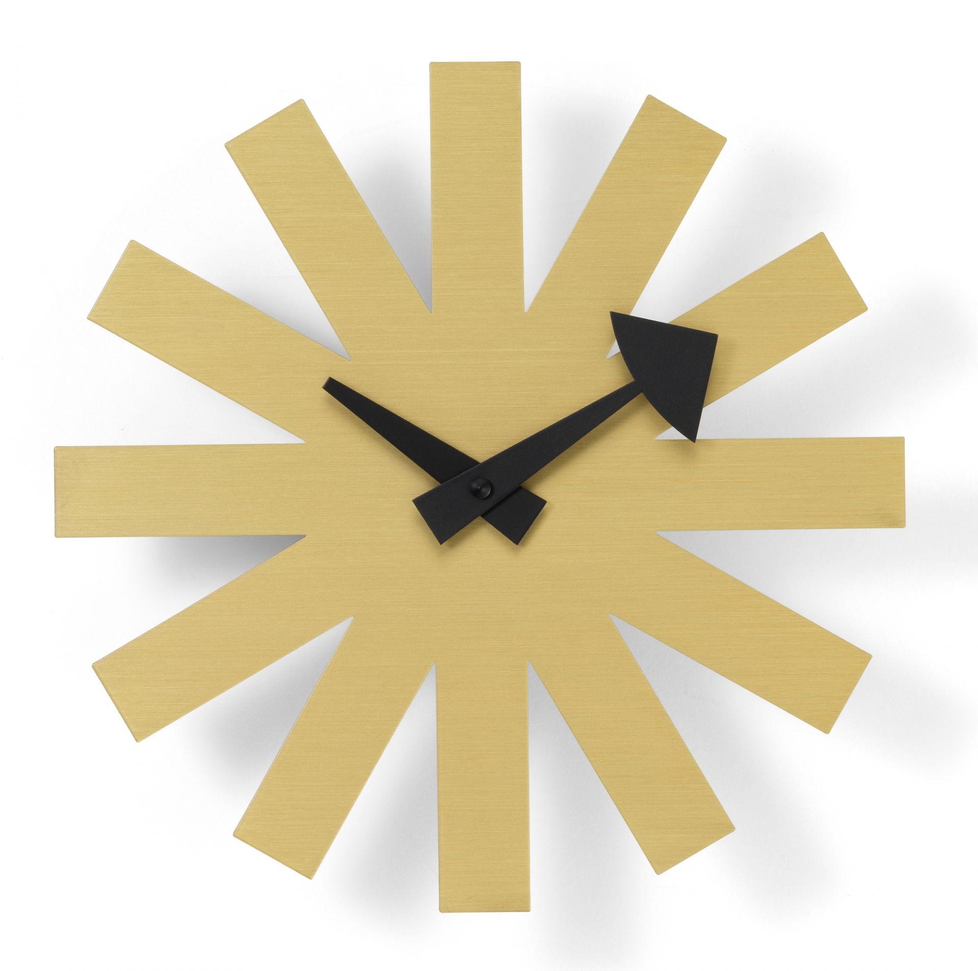 Asterisk Brass Wall Clock Wanduhr Vitra