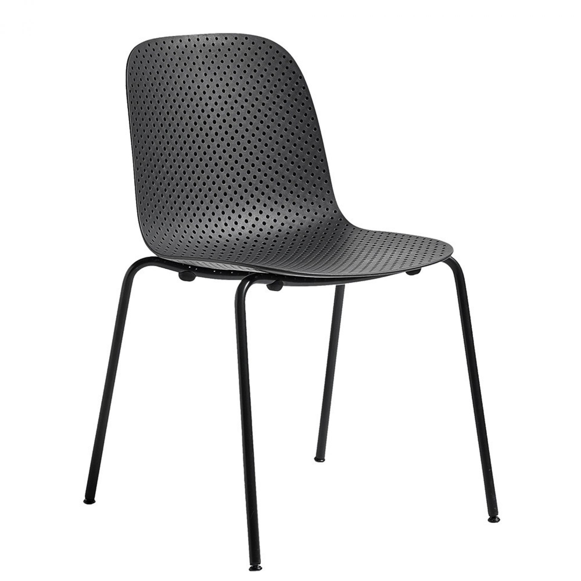 13Eighty Stuhl Hay-Sitz Soft schwarz / Gestell graphit schwarz
