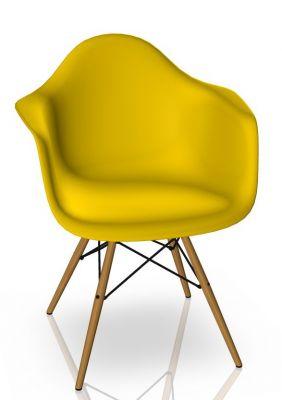 Eames Plastic Arm Chair DAW Stuhl Vitra Esche - Sunlight