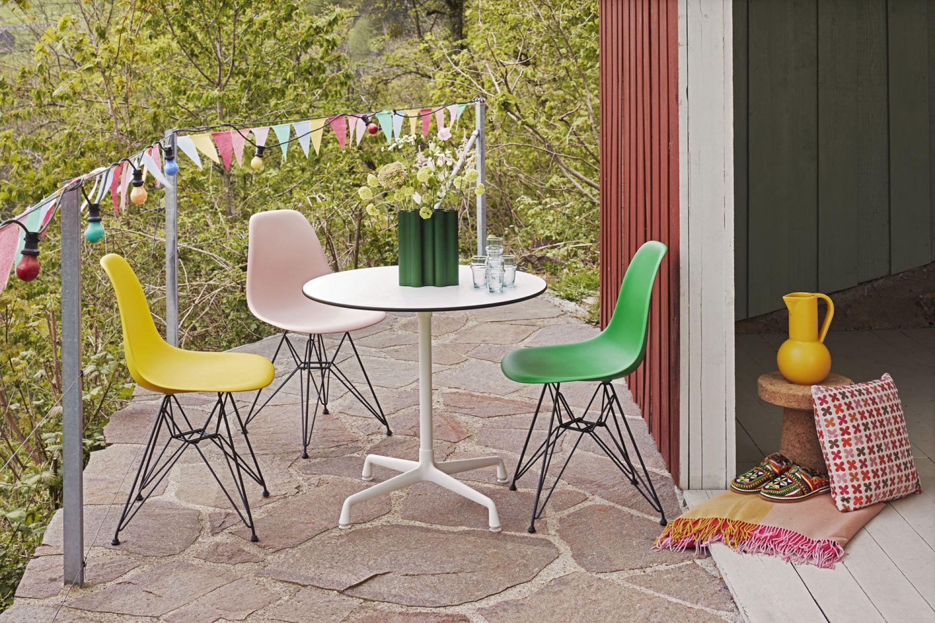 Eames Plastic Side Chair DSR Stuhl Chrom-Kieselstein Vitra EINZELSTÜCK