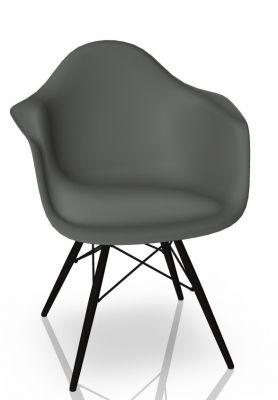 Eames Plastic Arm Chair DAW Stuhl Vitra Ahorn schwarz - Granitgrau