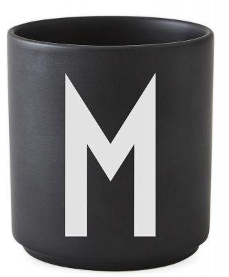 Buchstabenbecher Schwarz Design Letters-M