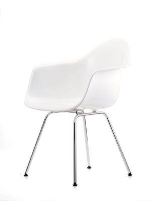 Eames Plastic Arm Chair DAX Stuhl Vitra Chrom - Weiss