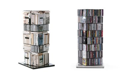 Ptolomeo drehbare Bücher / CD Säule PTX4-C Hx110 cm Opinion Ciatti