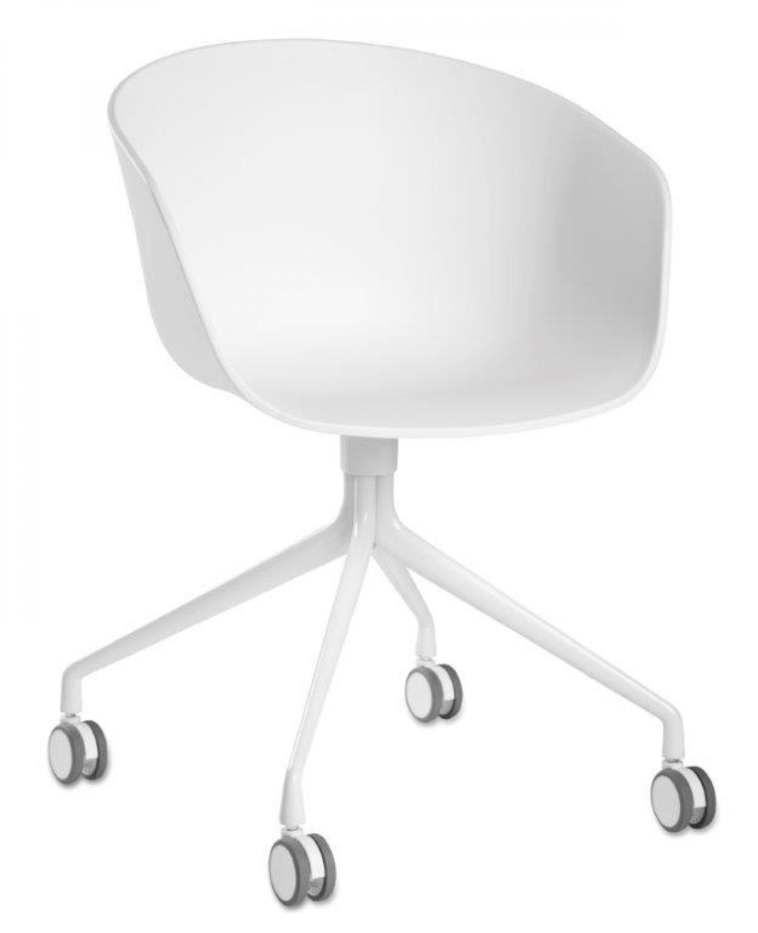 About A Chair AAC24 / AAC 24 Stuhl Weiss - Weiss pulverbeschichtet Hay