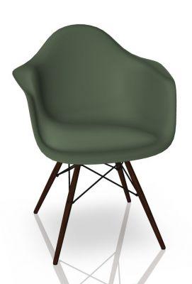 Eames Plastic Arm Chair DAW Stuhl Vitra Ahorn dunkel - Forest