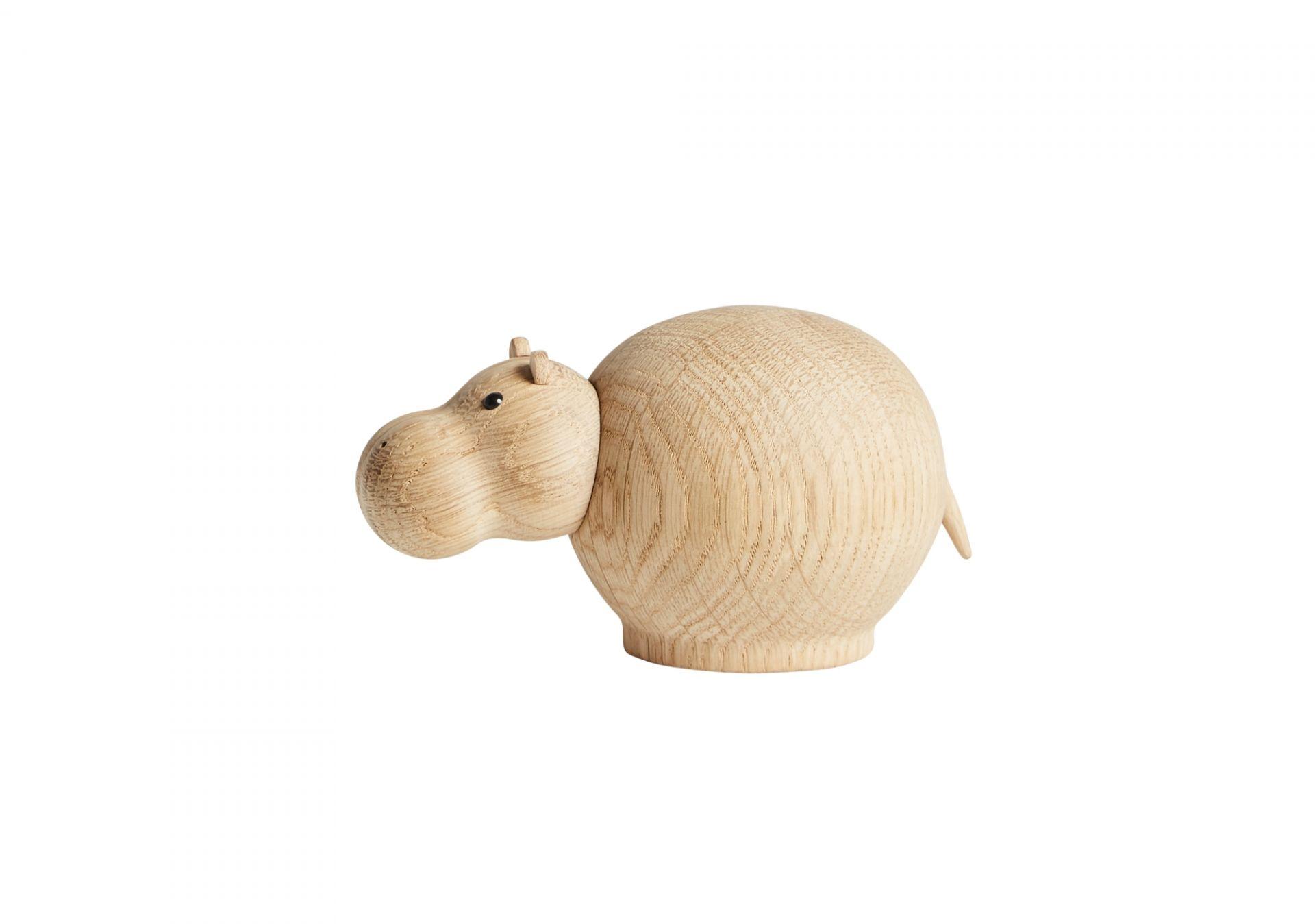 Hibo Hippopotamus Nilpferd Holzfigur klein Woud