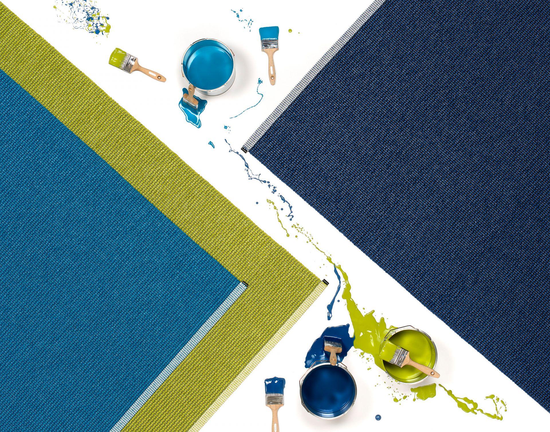 Mono Kunststoffteppich 85x260 Pappelina Denim